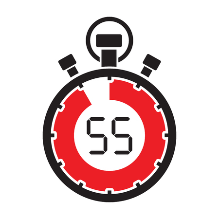 fifty five minute stop watch countdown Illustration
