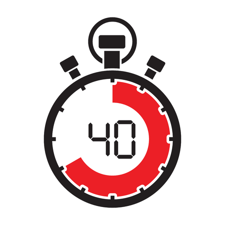 forty minute stop watch countdown Illustration