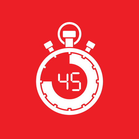 forty five minute stop watch countdown Illustration