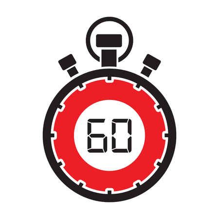 sixty: sixty minute stop watch countdown Illustration