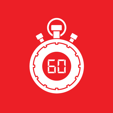 sixty minute stop watch countdown Illustration