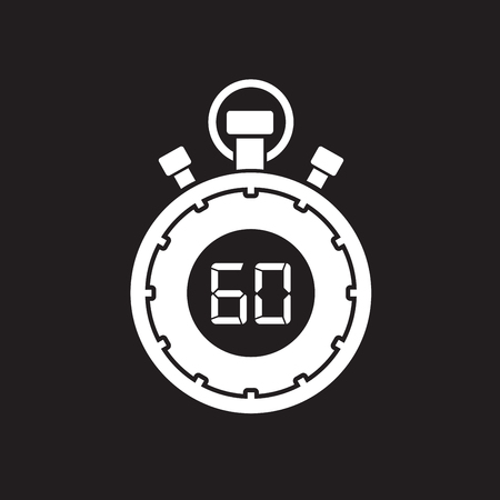 second: sixty minute stop watch countdown Illustration