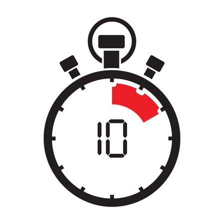 Zehn Minuten Stoppuhr Countdown Standard-Bild - 73778218