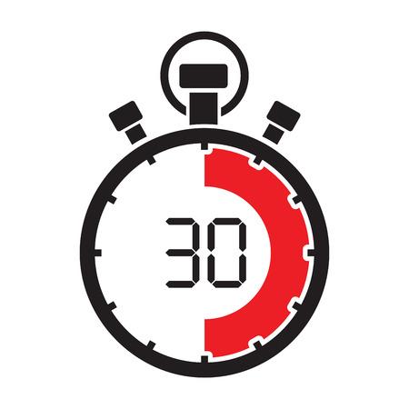 stopwatch thirty minute Stock Illustratie