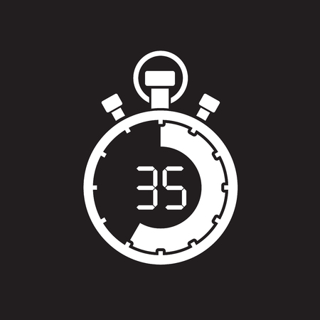 stopwatch thirty five minute royalty free cliparts vectors and