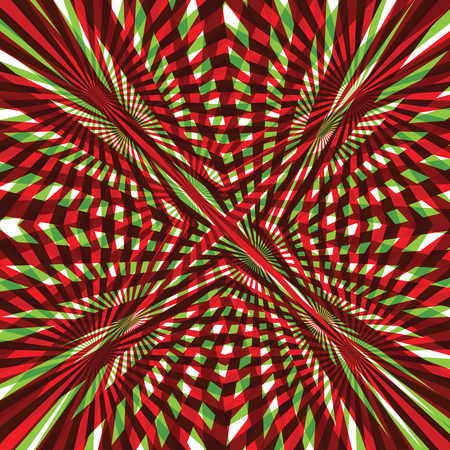 red green: Green and red abstract line background Illustration