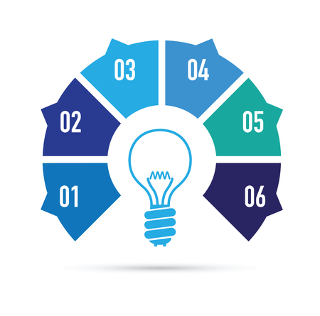 Blue light bulb idea Illustration