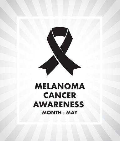 melanoma: melanoma cancer awareness Illustration