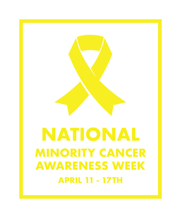 national minority cancer awareness ribbon Illustration