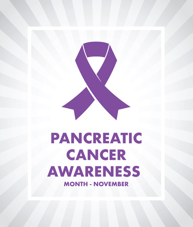 ribbin: pancreatic cancer awareness Illustration