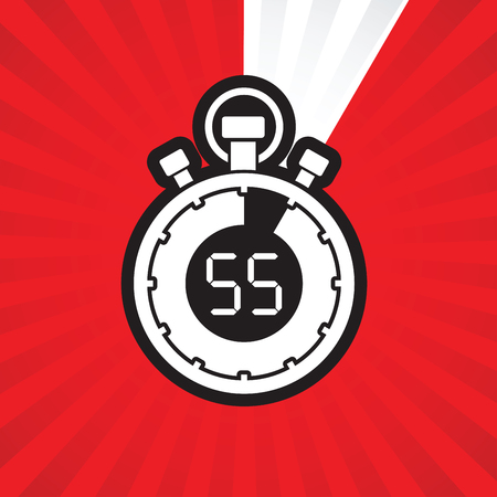 counting five: fifty five minute stop watch countdown Illustration