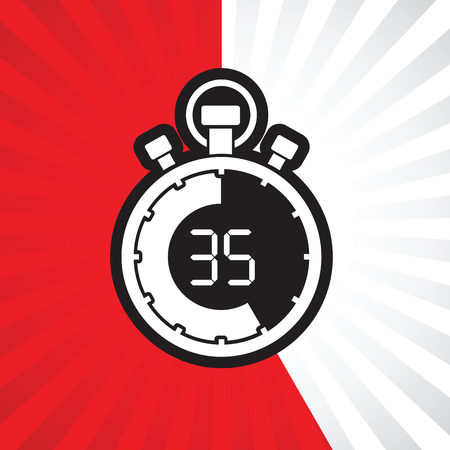 counting five: stopwatch thirty five minute