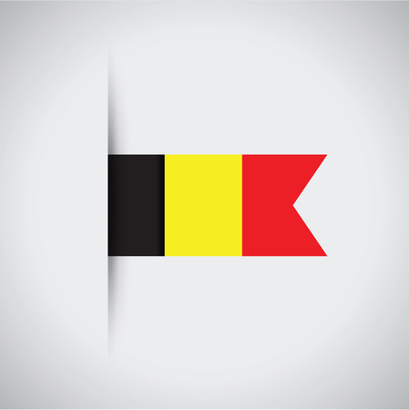 flag: Belgium flag. Illustration