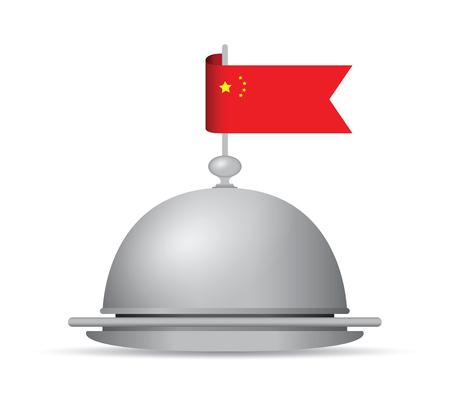 plate: China flag dinner platter.