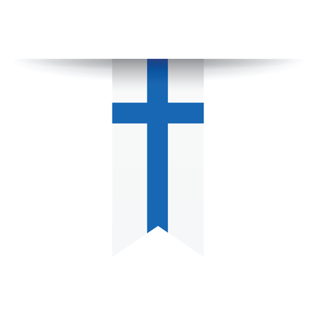 symbolical: Finland flag Illustration