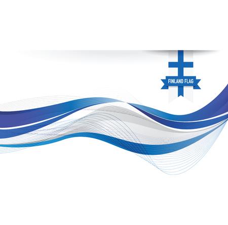 symbolical: Finland flag background
