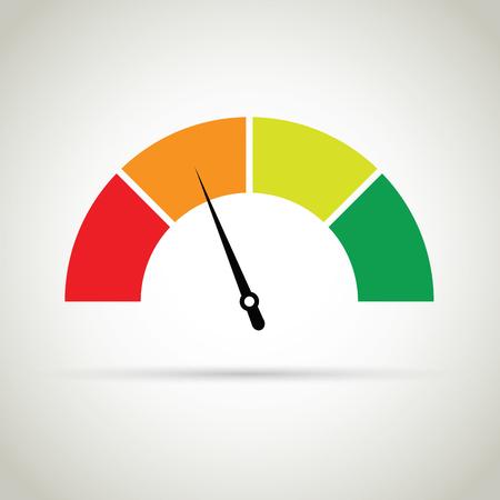 credit score gauge 矢量图像