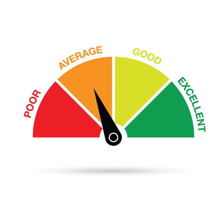credit score gauge Stock Illustratie