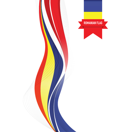 romanian abstract flag background