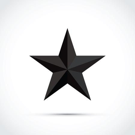 3d star shape icon