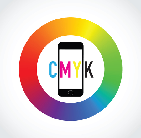 selector: cmyk mobile phone colour selector