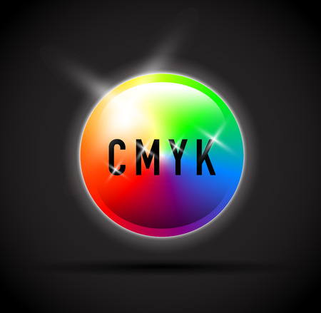 selector: cmyk round colour selector Illustration