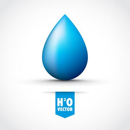 water reflection: blue ink droplet Illustration