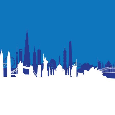sydney skyline: blue cityscape background