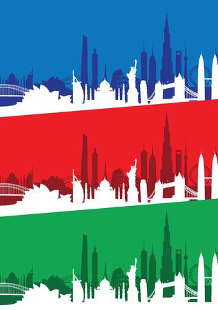 sydney skyline: cityscape set Illustration