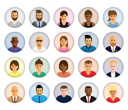 Profils des personnes Vecteurs