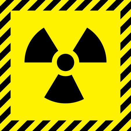 Radioactivo signo de la ciudad Ilustración de vector