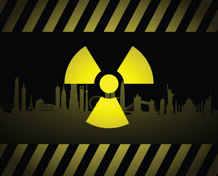 Radioactive cityscape sign