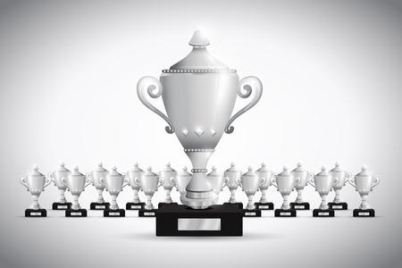 man: Set of trophies