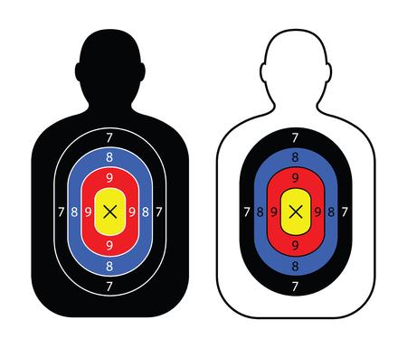 A men paper targets.