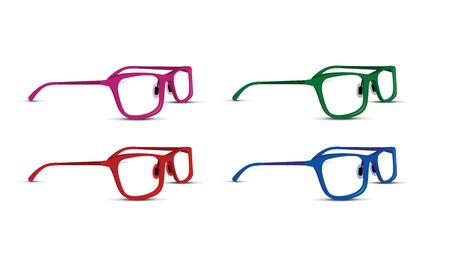 A glasses set on white background