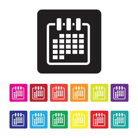 conjunto de iconos de organización de fecha Ilustración de vector