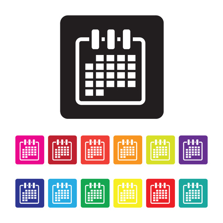 date organising icon set Illustration