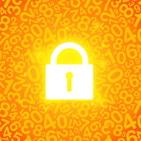 orange glowing lock