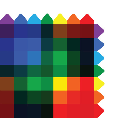 Colorful overlapping square background