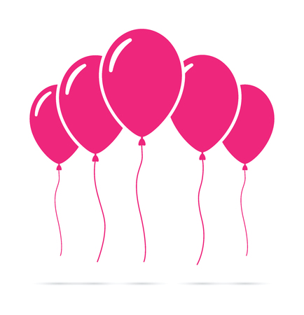 Set of pink balloons Illustration