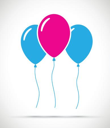 Set of balloons Illustration