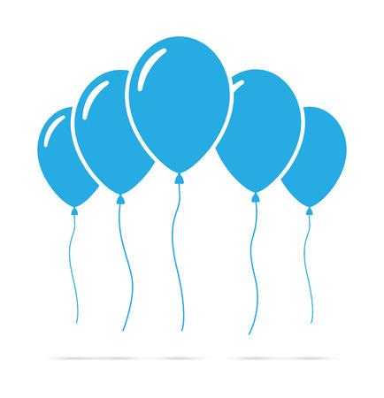 Set of blue balloons