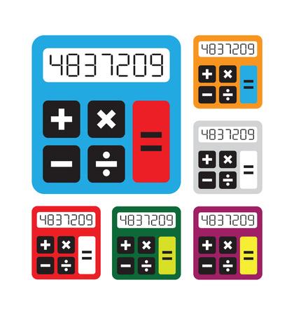 Calculator icons  set Illustration