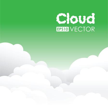 Green cloud background Illustration