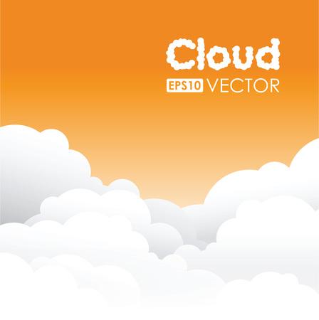 orange cloud background