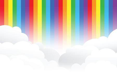 rainbow cloud background Illustration