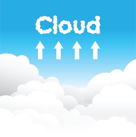 Cloud uploading concept background