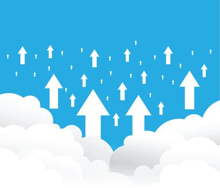 cloud uploading background Illustration