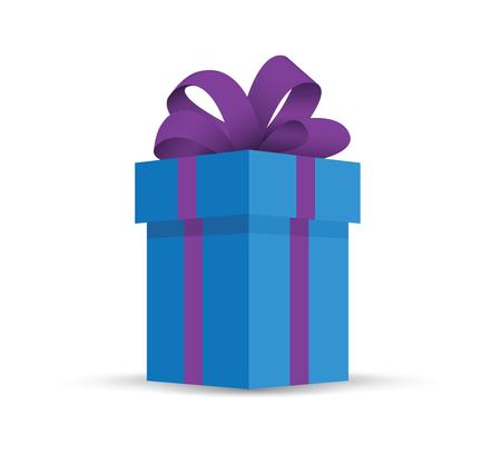 blue present gift Illustration