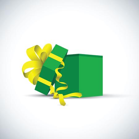 cadeau présent vert Illustration